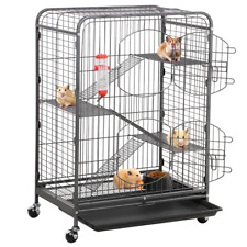 4-Tier Rolling Large Ferret Cage Small Animals Hutch for Ferret Chinchilla Cage