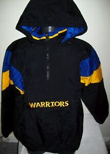 GOLDEN STATE WARRIORS Starter Hooded Half Zip Pullover Jacket  XL BLACK Style 2