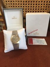 Omega Constellation 18ct Gold Day & Date Watch With Both Boxes & Original Card