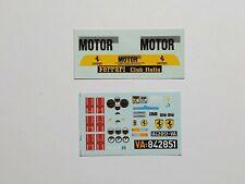 "FERRARI 288 GTO 1984 ""MOTOR SERVICE"" AMG DECALS 1/18 BURAGO MATTEL N/ROBUSTELLI"