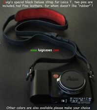 LUIGI's SPECIAL DELUXE STRAP+SS PINS,BLACK,FOR YOUR CUTE LEICA T,DHL, INCLUDED..