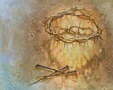 Yongsung Kim HOLY CROWN of Thorns Paper art Print Nail Spikes Crucifixion Christ