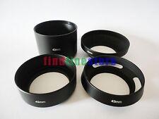 43mm standard telephoto wide angle vented curved metal lens hood kit set 4pcs