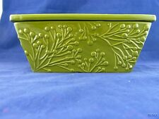 GREEN REAL HOME HIGH FIRE EARTHENWARE CASSEROLE DISH LOAF PAN
