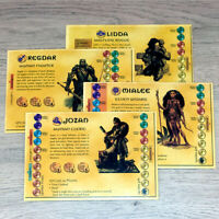 Dungeons & Dragons Board Game Character Cards x 4 Parker 2003