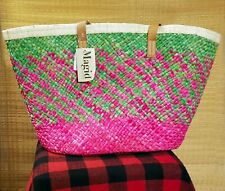 Magid Summer Tote Bag - Pink & Green - New with Tags