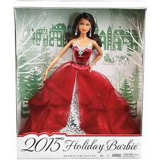 Barbie Collector 2015 Holiday AADoll ethnic Black Hair Latina Hispanic red dress