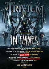 TRIVIUM 2014 Australian Tour Poster A2 In Waves Vengeance Falls IN FLAMES ***NEW