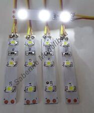 5 Stück LED Strip Kalt-Weiß Verkabelt als Kirmes-Weihnachts-Hausbeleuchtung