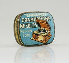 EMBASSY 'Medium Tone' Gramophone Needle Tin - FULL with Needles (AA40)
