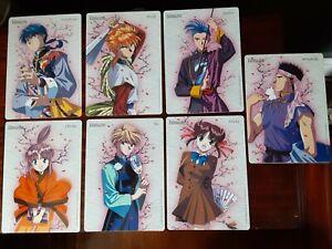 Fushigi Yugi, Japanese Anime Import, Oversized, Ltd. Edition, Two Sided, Cards.