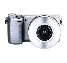 Silver /White Auto Lens Cap 4 SONY PZ 16-50mm F3.5-5.6 OSS E-mount Lens SELP1650