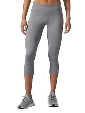 931b1f37e50f5c Adidas Women's Ultimate Mid-rise 3/4 Embossed Capri Tights - Grey - Size