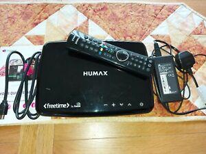 HUMAX HDR-1100S BLACK with MASSIVE 2TB Hard drive. Digital TV Twin Tuner.