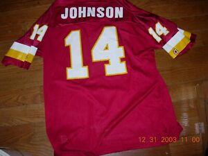 RARE 1999 Washington REDSKINS BRAD JOHNSON  sz44 Home Jersey,NWOT,MINT,GR8 GIFT