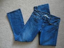 Sz 4 Womens LEVI'S ECO EARTH LOW FLARE Jeans PAINT SPLATTERED 29X31 Recycled
