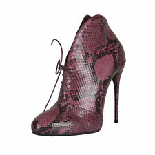 Gucci Purple Vine Python Skin High Heel Bootie Boots Shoes size 5.5