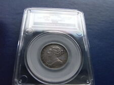 Anne Silver Shilling 1709 slabbed and graded