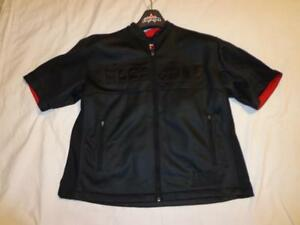 NEW ICON MOTO MOTORSPORTS INDY MOTORCYCLE SHOP SHIRT POLO FULL ZIP UP SMALL S SM