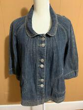 Live A Little Denim Jacket/shirt Women's Size XL