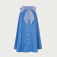 L.K.Bennett Alela Blue Striped Cotton Skirt