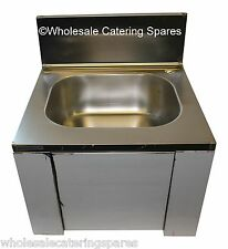 Easi-Wash Stainless Steel Wash Hand Knee Operated Sink +tap 420 x 400 x 450mm