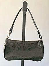 Coach Black Canvas Monogrammed Shoulder Bag/ BAGUETTE D05U-6094