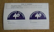 Rare - Singapore Airlines 40th Anniversary luggage sticker new and unused