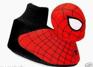 Marvel Spiderman Toddler Boys Red/Black  Socktop Slippers Size 7/8 FREE SHIPPING