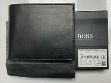 New Hugo Boss ASOLO, Mens Wallet Black Leather Wallet 50250331 coin pocket