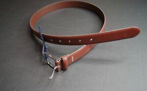 POLO RALPH LAUREN Men's Brown Polo-Plaque Calfskin Leather Belt NEW NWT $65