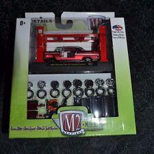 M2 MACHINES MODEL KIT 1955 CHEVROLET BEL AIR HARDTOP CUSTOM SATIN RED R11