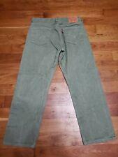 Mens Levis 501 Green Denim Jeans 36x30