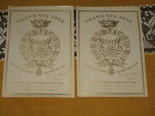 Vieille Étiquette de vin Château Gruaud Larose 1952