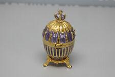 Faberge Decorative Egg Trinket Purple/Gold Crown