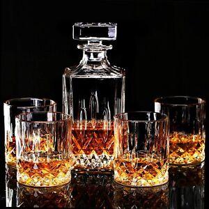7tlg Whisky Karaffe 6 Gläser Set Glas Dekanter Flasche Likör Glaskaraffe Whiskey