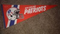 NFL New England Patriots Vintage 1980's 2 Bar Facemask Football Pennant