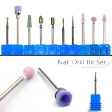 10pcs Nail Drill Bit Set Diamond Rotate Burr Cleaner Manicure Pedicure Electric