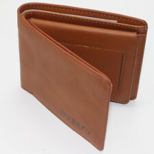 New Stylish Men's Brown Leather Wallet Pocket Card Clutch Bifold Purse