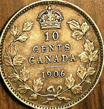 1906 CANADA SILVER 10 CENTS COIN - Nicer example!