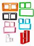 Étagère Murale Cube 3er Set Design Livres CD Étagère Divers Couleurs Neuf