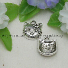 50pcs Alloy Metal Hello Kitty Finding Charms 15x18mm Jewelry Making Fitting