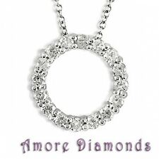 1.6 ct G SI1 round genuine not enhanced diamond circle of life pendant 18k gold