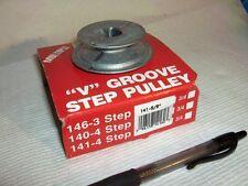 """100s V Belt Pulleys NEW Chicago #141, 4 Step Pulley 2"""", 2 1/2"""", 3 1/2"""", 4"""" od"""