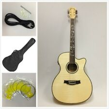 837CEQ All Flame Maple Body OM Shape Electro-Acoustic Guitar,EQ+Free Bag,Strings