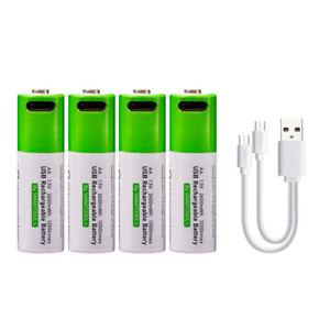 4 x AA Batteries Rechargeable via USB Type-C Lithium-Ion Li-Ion 1.5v 1600mAh
