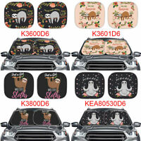 2 Cute Sloth Gifts Car Windshield Sunshade Sun,UV,Rays Protection Auto Keep Cool