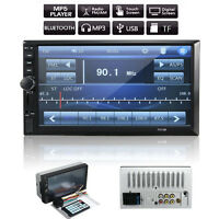 """7"""" Car Stereo 2DIN Autoradio Bluetooth Anzeigebildschirm Touch Screen GPS Player"""