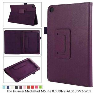 Flip Stand PU Leather Cover Case For Huawei MediaPad T3 10 T3 9.6'' M5 Lite 10.1