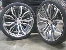 20 Staggered Gunmetal Rims Wheels Fit BMW X5 Style X5M X6 E70 20x10 20x11